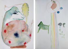 Ölbilder und Papierarbeiten von Jens Kunik