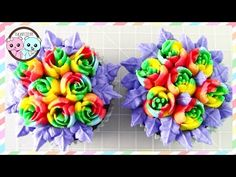 *** Shows Excellent Technique for Loading MULTICOLOR ICING INTO A PASTRY DECORATING SLEEVE *** ***RAINBOW ROSE CUPCAKES  using Russian Piping Tips Sugarcoder - YouTube