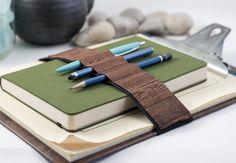 Pencil case alternative / Journal Bandolier Large / Wooden