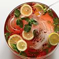 Pomegranate-Champagne Punch, I've made this a bunch and it's great for a crowd.