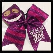 Cheshire Cat - We're All Mad Here Cheer Bow