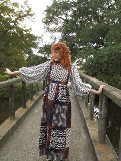 60's  Vintage Patchwork Ethnic Hippie Dress by PaisleyBabylon
