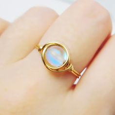 Aurora Borealis Ring unique rings wire wrapped by littlestgem