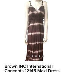 Brown Inc International Maxi Dress Brown Maxi Dress INC International Concepts Dresses Maxi