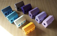 Paper House Mobile with Custom Colors by creatorB on Etsy, $200.00