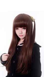 Super cute everyday long bangs Harajuku wig