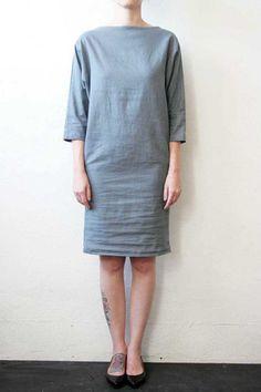 Slit Neck Dress Overcast