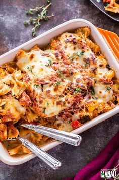 Veggie Lovers Baked Pasta is loaded with vegetables. If you love your veggies, then this pasta is for you. It's full of flavors and very comforting!