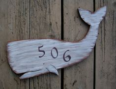 White Whale Sign  Address  Wood  Moby Dick  by TheBirchTurtleDove, $45.00