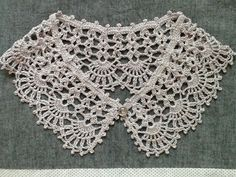 crochet lace collar