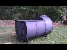 Build your own wood stove with cook top from a 55 gallon barrel. Two very nice videos showing how you can take a 55 gallon steel barrel and turn it into a Barrel Stove, 10 Barrel, Steel Barrel, 55 Gallon Steel Drum, Outdoor Cooking Stove, Rocket Stoves, Garden Architecture, Wood Burner, Homestead Survival