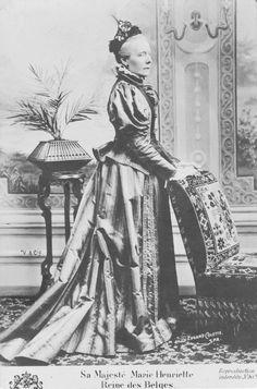1890s (estimated) Marie Henrietta of Austria, Queen of the Belgians, Wife of Leopold II of Belgium by Edgard Colette