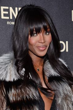 Style Notes: Naomi Campbell Is Throwing a Birthday Rager; Alaia Makes Perfume Claudia Schiffer, Irina Shayk, Top Models, Hollywood Fashion, Hollywood Actresses, Celebrity Hairstyles, Hairstyles With Bangs, Naomi Cambel, Hair Addiction
