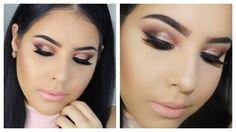 Girly Sparkly Smokey Eye   Talk Through Makeup Tutorial