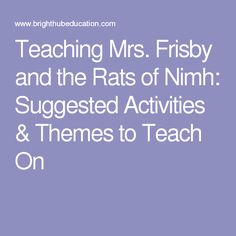 Free worksheets for mrs frisby and the rats of nimh vocab teaching mrs frisby and the rats of nimh suggested activities themes to teach fandeluxe Gallery