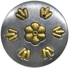 ButtonShop.ca - 10-6 Tinned White Metals  - Pure or block tin buttons very rare - 10-6 Tin Plated Zinc (Perforate)