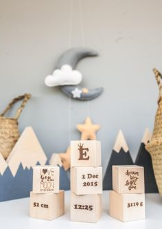 Blocks with letters - Blocks with name - Block letters - Baby shower - Block for baby name -Kids - Numbers - Wooden blocks set - baby blocks Baby Shower Gifts For Boys, Boy Baby Shower Themes, Baby Boy Shower, Baby Gifts, Panda Nursery, Moon Nursery, Nautical Nursery, Girl Nursery, Hot Air Ballon Nursery