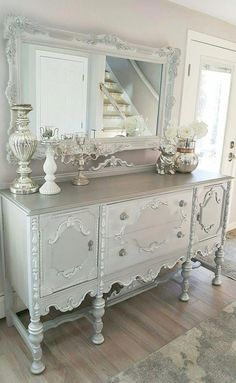 35 Shabby Chic Living Room To Not Miss Today - Advanced Interior Designs Style Shabby Chic Living Room, Shabby Chic Bedrooms, Shabby Chic Homes, Shabby Chic Furniture, Living Room Decor, Painted Furniture, Bedroom Furniture, Vintage Furniture, Furniture Dolly