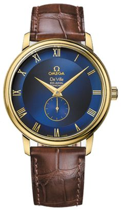 OMEGA Watches: De Ville Prestige Small Seconds - Yellow gold on leather strap - Men's Watches, Fashion Watches, Cool Watches, Stylish Watches, Luxury Watches For Men, Gentleman Watch, Expensive Watches, Vintage Omega, Beautiful Watches