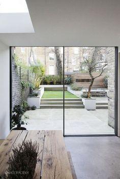 White black concrete wood