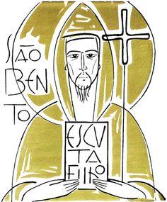 São Bento - Obra em Azulejo feita por Cláudio Pastro para o Mosteiro de Singeverga