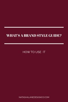 What's a Brand Style Guide | Design Process | Branding | Brand Style Guide Design #webdesign #branding #graphicdesign