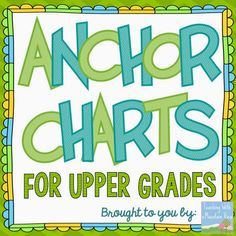 A collection of anchor charts from Teaching With a Mountain View for Grades 3 and up! Dozens of literacy and math anchor charts featured. 6th Grade Ela, 5th Grade Classroom, 5th Grade Reading, Middle School Reading, Classroom Ideas, Fourth Grade, Third Grade, Classroom Charts, Sixth Grade