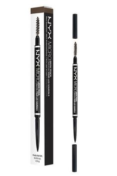 This brow pencil has a super-skinny tip that's perfect for sketching realistic brow hairs among your existing ones.NYX Cosmetics Micro Brow Pencil, $9.99, available at Ulta Beauty. #refinery29 http://www.refinery29.com/best-ulta-products-under-10-dollars#slide-12
