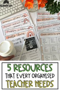 Being an organised teacher helps you be happier, and ultimately more effective! We want all teachers to have the tools and resources they need to get organised, and in this post we're sharing 5 of our favorite ideas! We're breaking down how to use everything from a professional development diary to a unique storage system to fit your needs. Whether you teach elementary or middle school, these tips are for you!