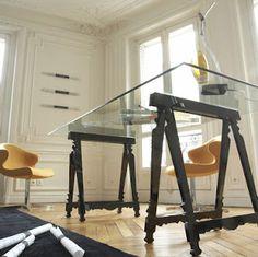 diy # sawhorse desk # secretária com cavaletes