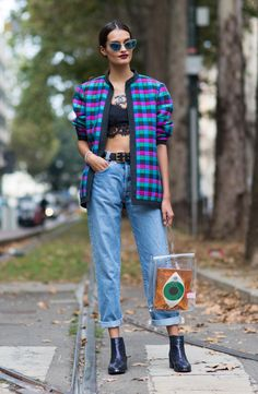 How to dress up denim: inspiration from Gizele Oliveira and more at Milan Fashion Week