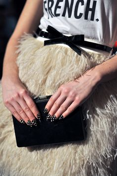 kate spade NYFW fall/winter 2012  is it the polka dots? is it the bow? is it the feathers?  sooo lovely