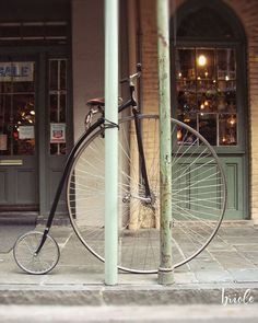 "New Orleans Bicycle Photograph ""Bygone Era"". A photograph of a fun vintage bicycle seen in the New Orleans, French Quarter. HOW TO ORDER: Select the quantity and size print you would like from the drop down menu to the right before adding to your cart. The photograph may be cropped slightly different then the preview, depending on which size print that you order. ABOUT YOUR PRINT: The watermark will not appear on final printed image. The photograph resolution has been reduced for web…"