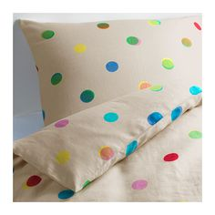 IKEA PS 2012 Duvet cover and pillowcase(s) IKEA, $59. I LOVE polka dots. Good for boys and girls.