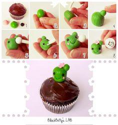 How to make a Cactus Cupcake