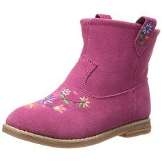 Hanna Andersson Girls Elsa Suede Ankle Boots