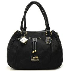 authentic burberry outlet online 5zfn  Coach Marina In Signature Large Black Satchels CBW Outlet Online