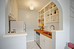 Cute little kitchen in pretty blue