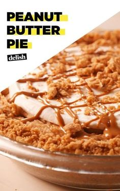 We Can't Stop Eating This Peanut Butter Pie Delish Just Desserts, Delicious Desserts, Dessert Recipes, Yummy Food, Pie Recipes, Healthy Food, Candy Recipes, Healthy Eating, Peanut Butter Desserts