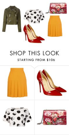 """""""Happt place!!!!"""" by taggedbykimmie15 on Polyvore featuring Gucci, Christian Louboutin, Être Cécile and Versus"""