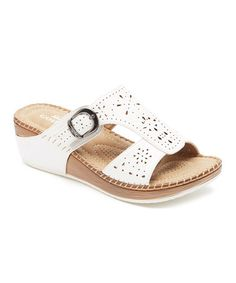 This White Buckle Sandal by Lady Godiva is perfect! #zulilyfinds