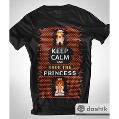 Playera Keep Calm and Save the Princess - Doshik
