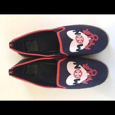 """Tory Burch """"Mon Amour"""" espadrilles Slip on sneaker,  used only a few times. Tory Burch Shoes Espadrilles"""