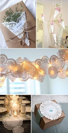 Ideas-Diy-Para-Comuniones-Y-Bodas craft ideas doilies crafts Paper Doily Crafts, Doilies Crafts, Paper Doilies, Home Crafts, Diy And Crafts, Deco Champetre, Diy Y Manualidades, Bridal Shower, Baby Shower