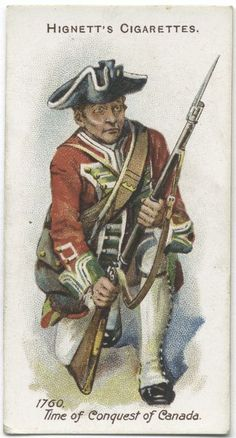 Arms & Armour - 44 - A Private, 24th Foot - 1760. Time of Conquest of Canada.