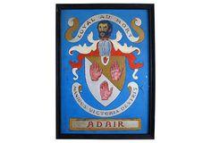 Adair Family Crest, 1940