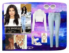 """""""Kylie Jenner Style"""" by bellaclairecassedemont ❤ liked on Polyvore featuring Universal Lighting and Decor, Carvela, Frame Denim, Jonathan Simkhai, Michael Kors, Christian Dior and I+I"""