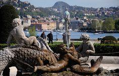 Fontana di Villa Olmo   Como #lakecomoville
