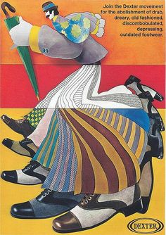 Groovy ad for Dexter shoes