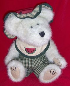 This Retired Boyds Bears Is Named Sugar McRind.  She Was Part Of The Artisan Series.  This Teddy Bear Makes Me Wish Watermelon Was In Season!
